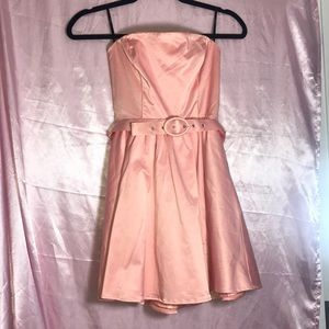 NEW Forever 21 Pink Strapless Dress Small